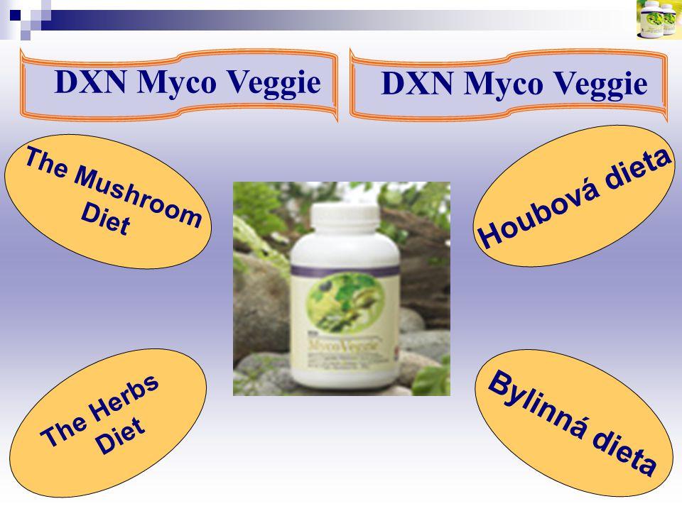 DXN Myco Veggie Houbová dieta The Mushroom Diet The Herbs Diet Bylinná dieta