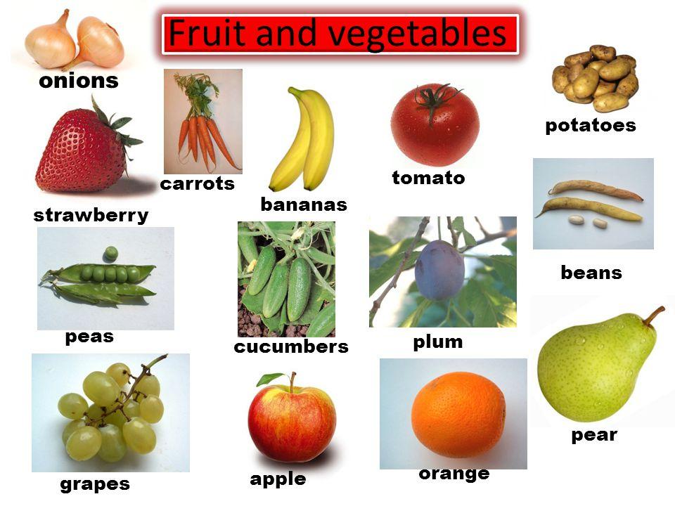 Fruit strawberry bananas pear plum apple grapes orange