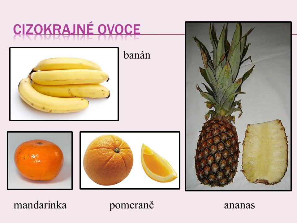banán mandarinkapomerančananas