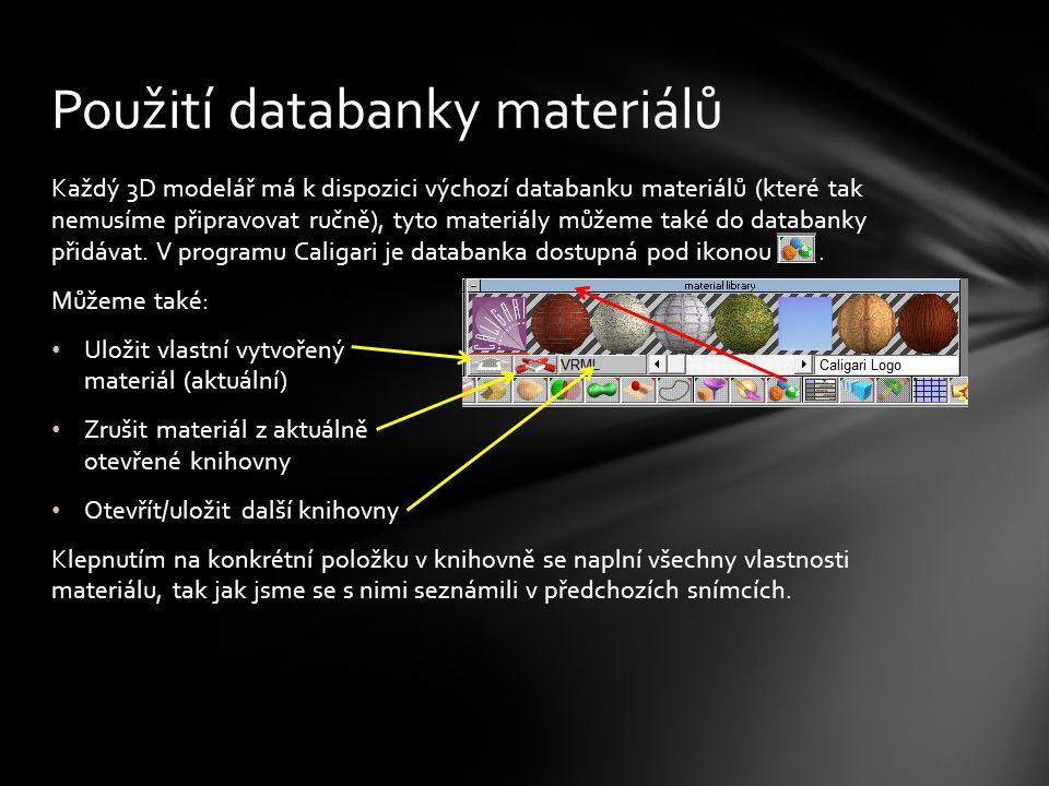 Otevřete si soubor VY_32_INOVACE_Design2r0116.scn a aplikujte na jednotlivé prvky vhodné povrchy – třeba takto...