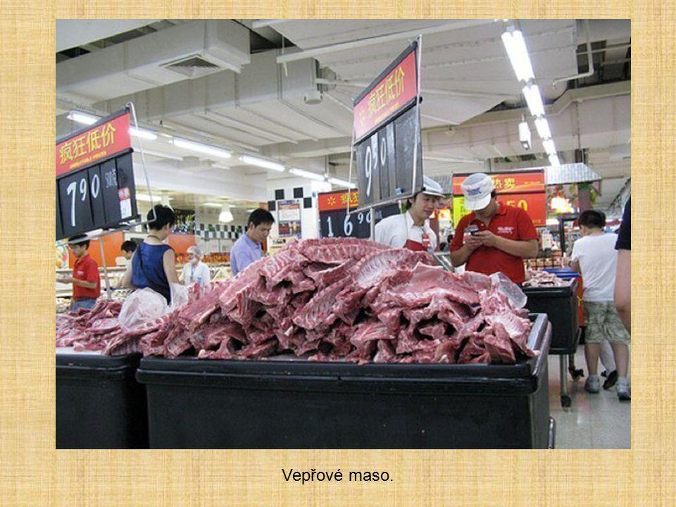 Vepřové maso.