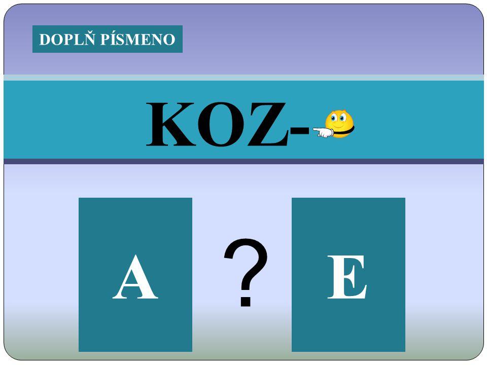 KOZ- EA DOPLŇ PÍSMENO
