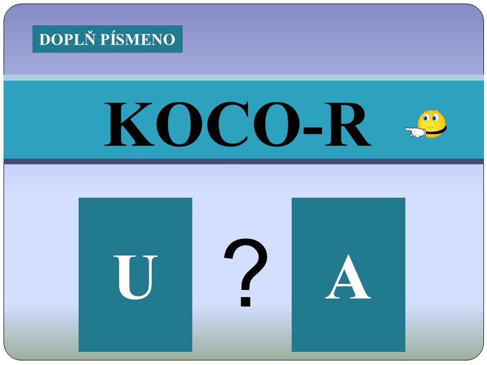KOCO-R AU DOPLŇ PÍSMENO