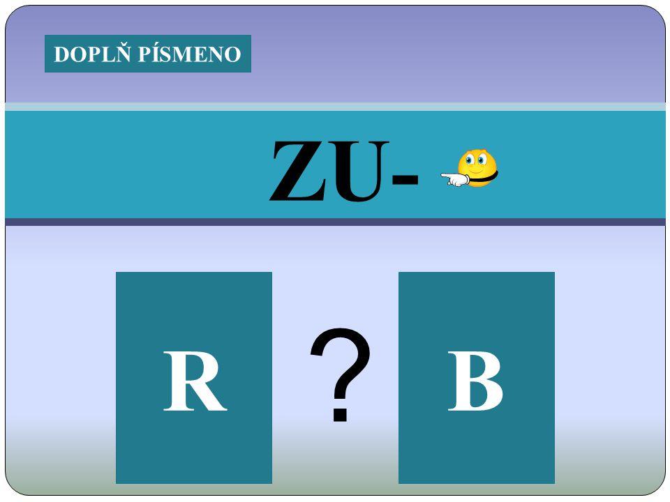 ZU- RB ? DOPLŇ PÍSMENO