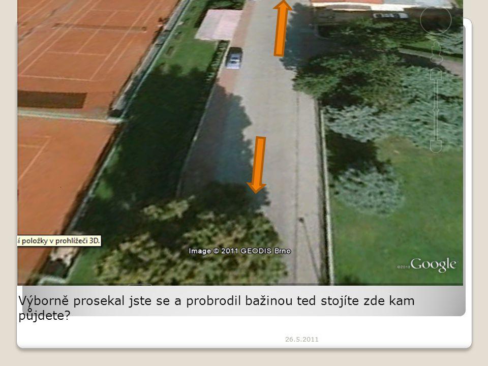 26.5.2011 Výborně prosekal jste se a probrodil bažinou ted stojíte zde kam půjdete?