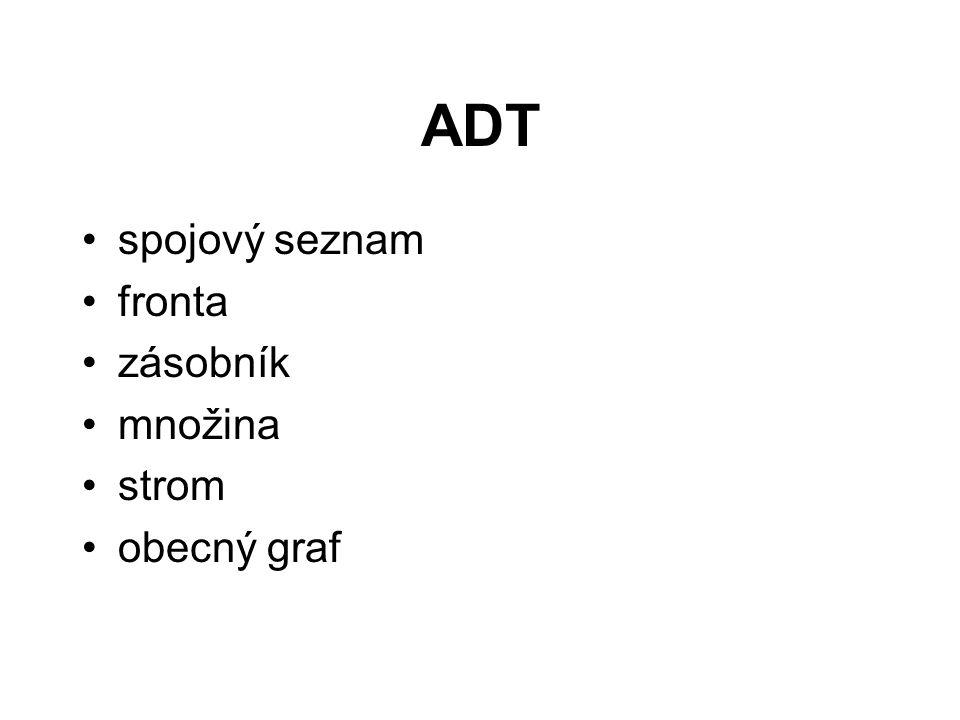 Operace nad zásobníkem void init(TZasob *z), eventuálně TZasob *init() –inicializace, vytvoří prázdný zásobník int je_prazdny(TZasob *z) –test na prázdný zásobník void push(TZasob *z, int prvek) –vloží prvek na vrchol zásobníku int pop(TZasob *z) –vyjme prvek z vrcholu zásobníku void zrus(TZasob *z)
