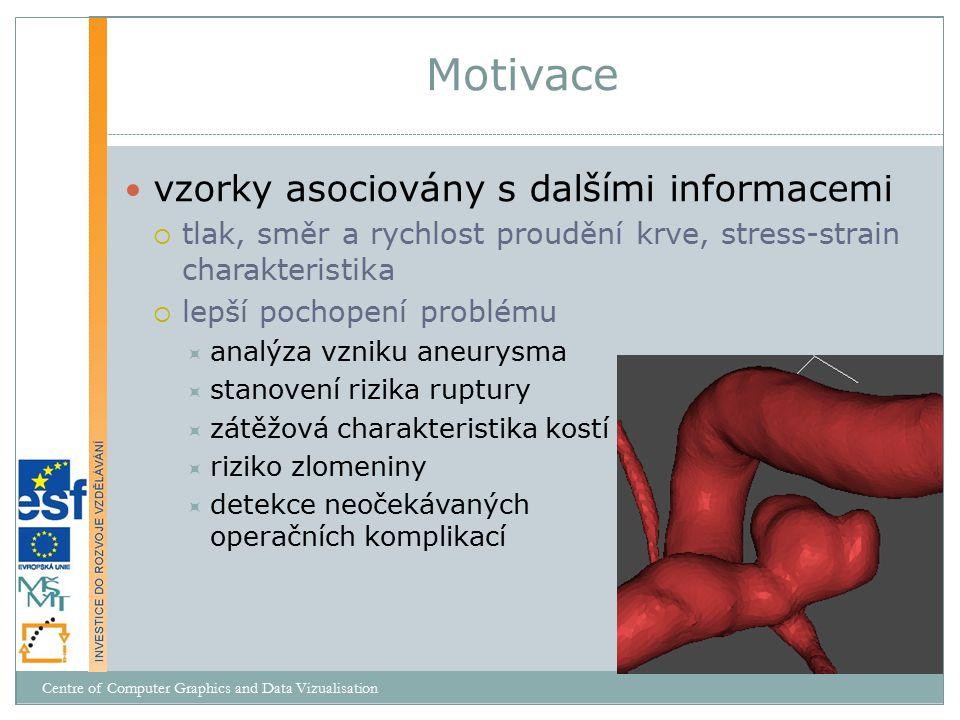 vzorky asociovány s dalšími informacemi  tlak, směr a rychlost proudění krve, stress-strain charakteristika  lepší pochopení problému  analýza vzni