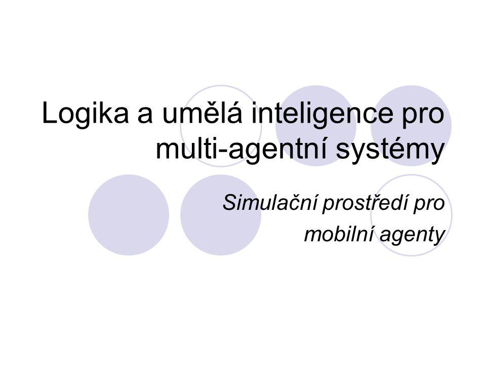 Struktura Simulační prostředí  Virtuální prostor (2D nebo 3D)  Agenti jsou reprezentování jako hmotné body  Implementace základních fyzikálních dějů Mobilní agenti  Agent má k dispozici senzory, pomocí kterých monitoruje prostor kolem sebe  Každý agent je vybaven sadou základních chovaní pro pohyb ve virtuálním prostoru
