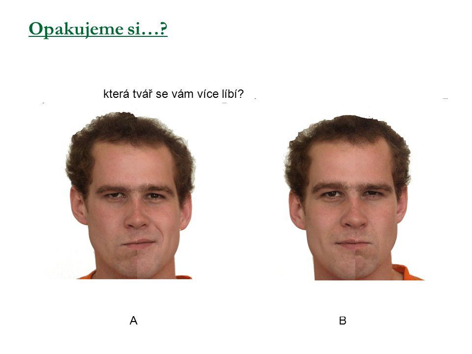 Opakujeme si…? která tvář se vám více líbí? A B