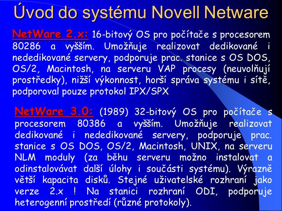 Lokální počítačové sítě Novell Netware Ing.