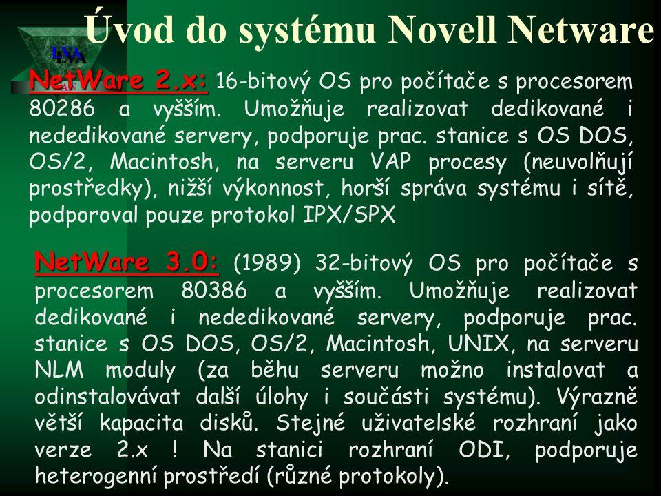 Síťové operační systémy LVALVA WAN Hodnocení jednotlivých kriterií u porovnávaných systémů Pozn. : * nedostatečné; ** dostatečné; *** dobré, **** velm