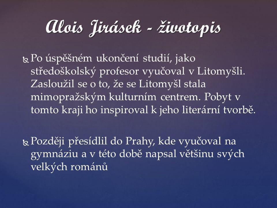   Po úspěšném ukončení studií, jako středoškolský profesor vyučoval v Litomyšli. Zasloužil se o to, že se Litomyšl stala mimopražským kulturním cent