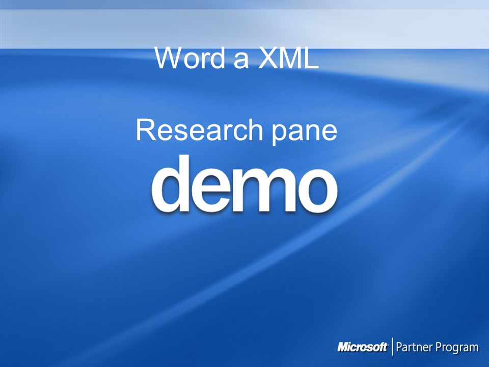 Word a XML Research pane