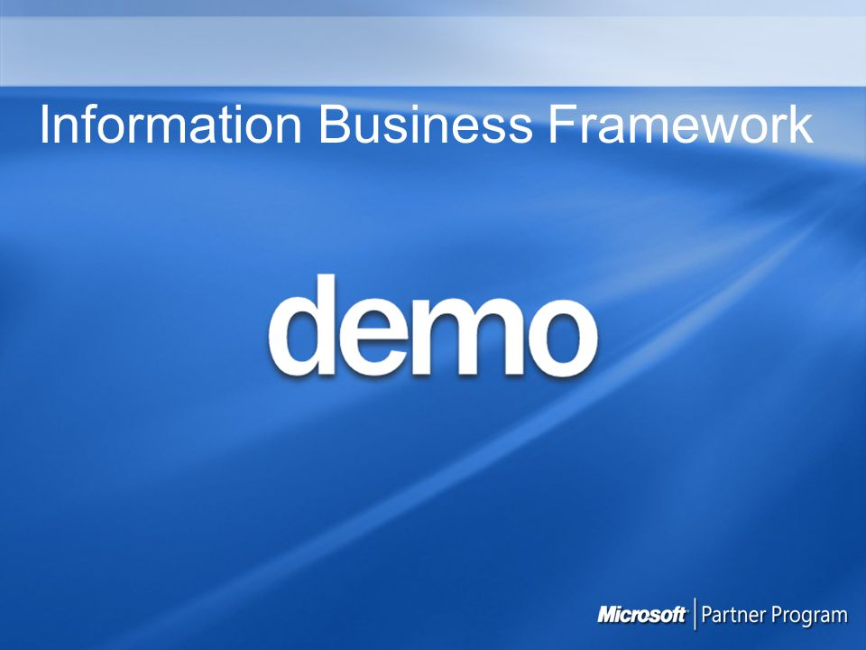 Information Business Framework