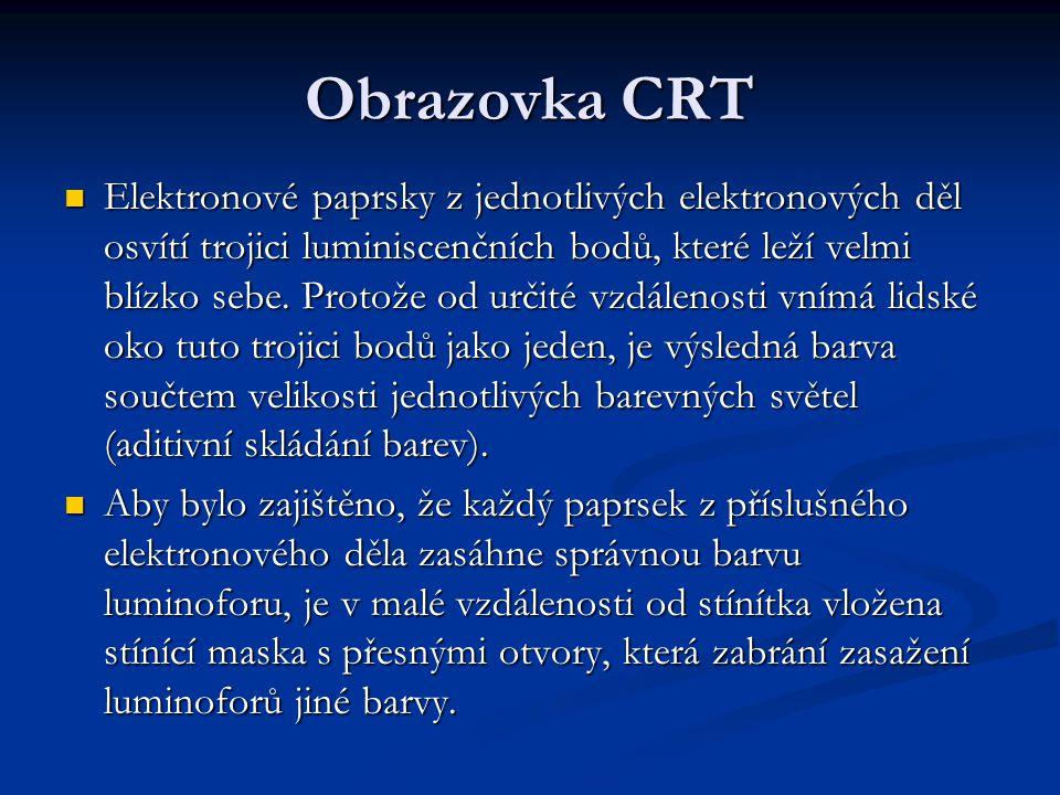 Druhy masek CRT DeltaInlineTrinitron