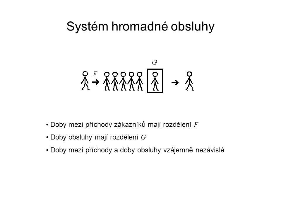 Systém hromadné obsluhy A n – doby mezi příchody zákazníků D n – doby mezi odchody zákazníků Vstupní proces je procesem obnovy