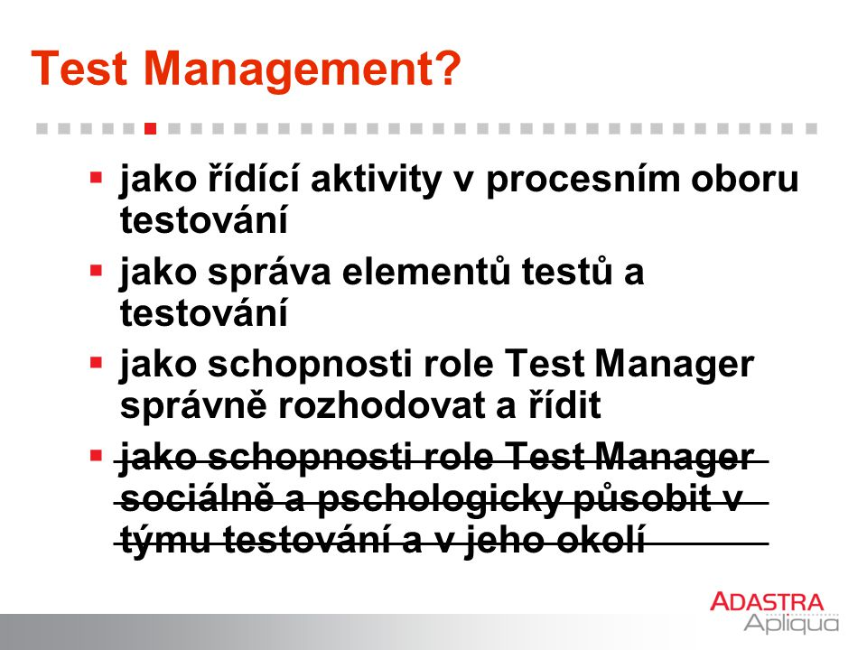 Test Management.