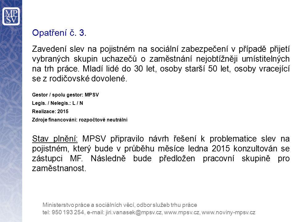Opatření č.14.