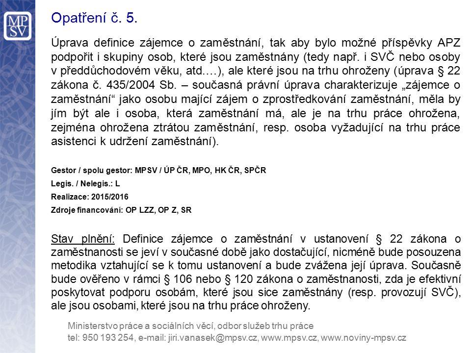 Opatření č.6.