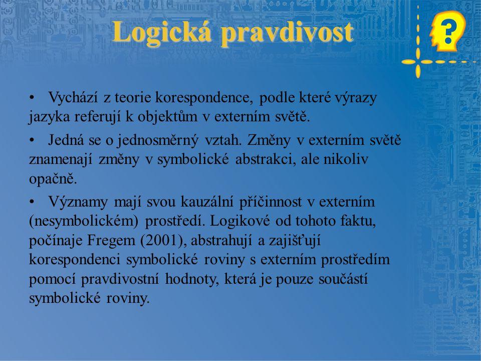Psychologický aspekt Psychologistické koncepce logiky Logika = nauka o tom, jak se dostáváme od jedné pravdivé myšlenky k jiné (či jak bychom to měli v ideálním případě činit) Hilbert: zaprotokolování pravidel, podle kterých skutečně postupuje naše myšlení