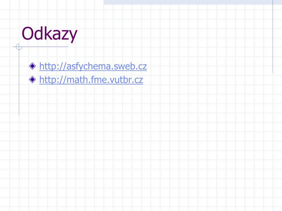 Odkazy http://asfychema.sweb.cz http://math.fme.vutbr.cz