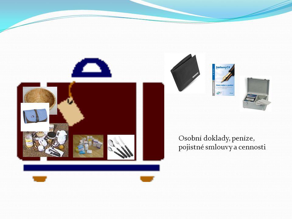 Osobní doklady, peníze, pojistné smlouvy a cennosti