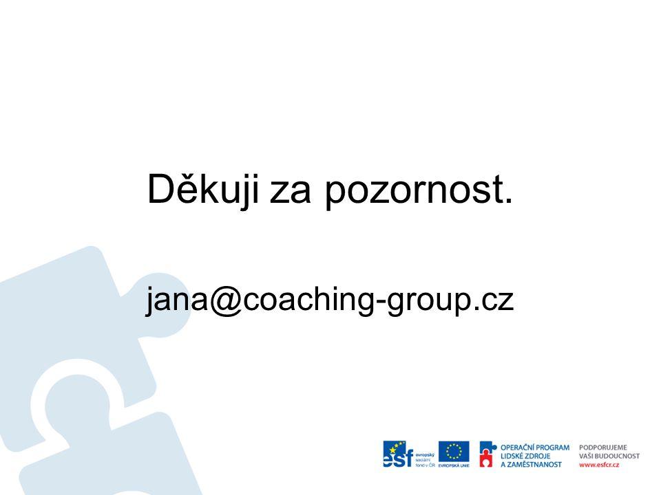 Děkuji za pozornost. jana@coaching-group.cz
