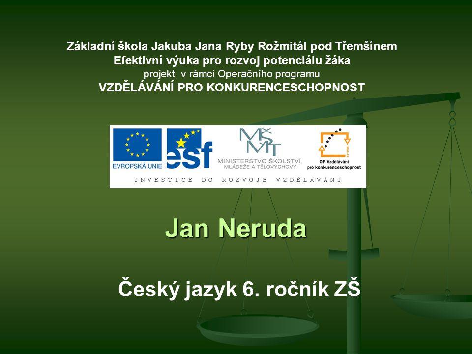 Jan Neruda Český jazyk 6.