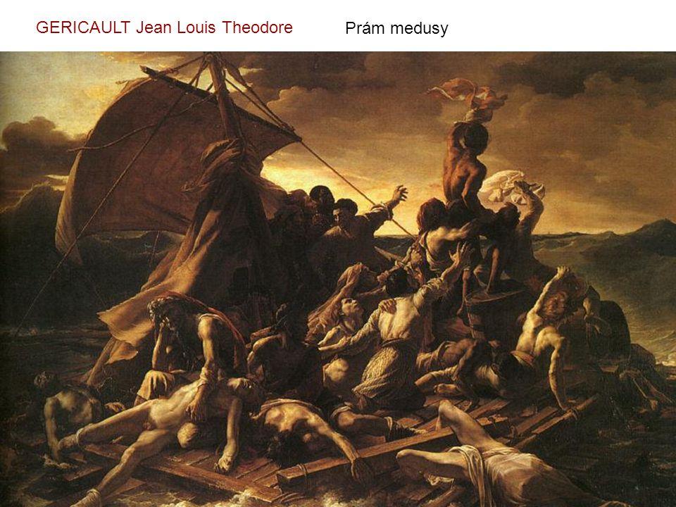 Prám medusy GERICAULT Jean Louis Theodore