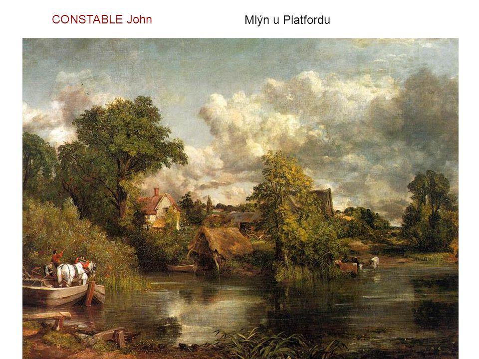 Parhamský mlýn u Gillinghamu - 1826 CONSTABLE John