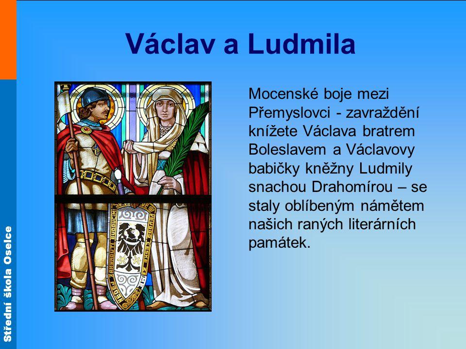 Střední škola Oselce Užívané jazyky V Čechách se rozvíjela staroslověnská kultura paralelně s latinskou po celé 10.