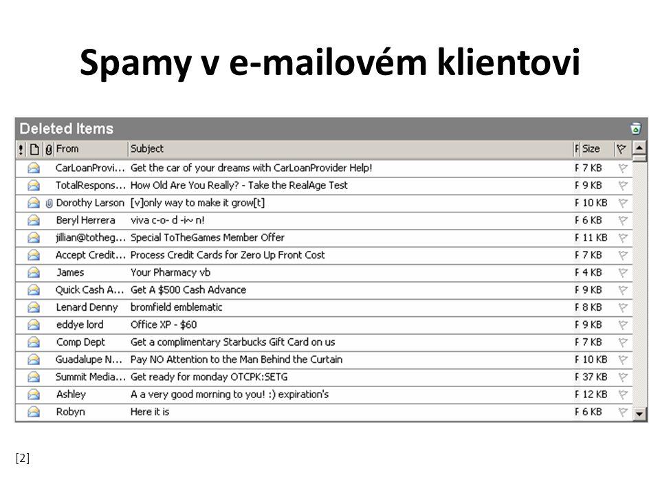 Spamy v e-mailovém klientovi [2]
