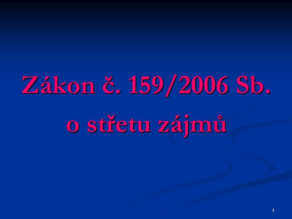 1 Zákon č. 159/2006 Sb. o střetu zájmů