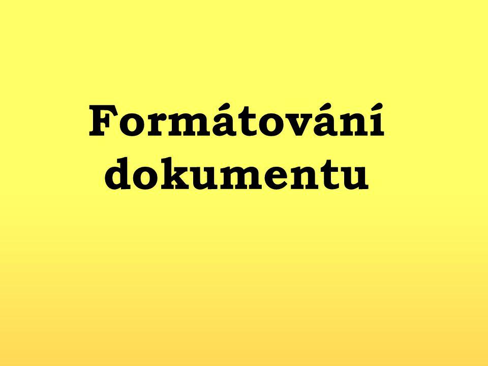 Formátování dokumentu