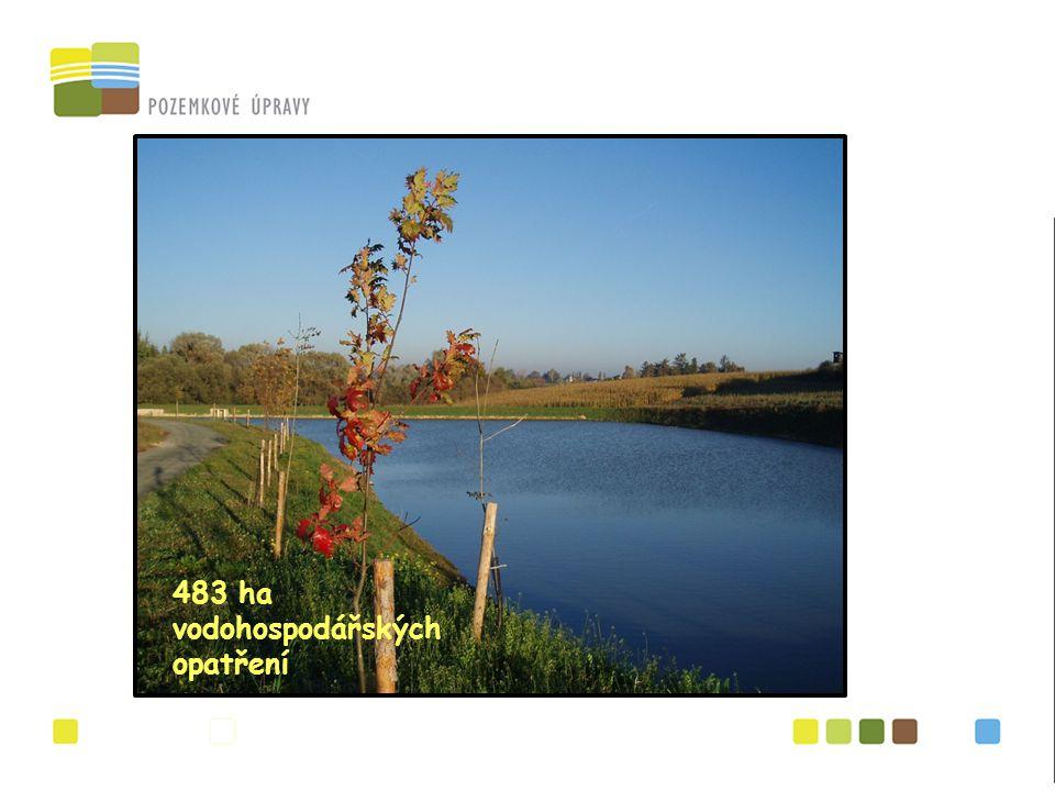 483 ha vodohospodářských opatření