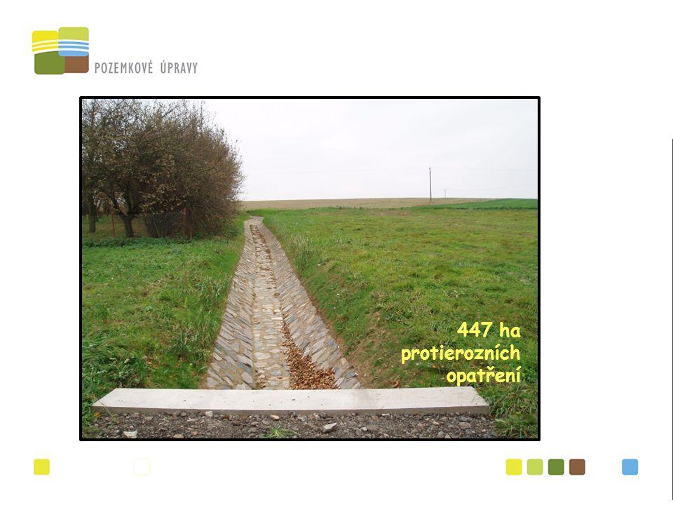 447 ha protierozních opatření
