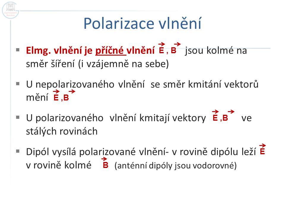 Polarizace vlnění  Elmg.