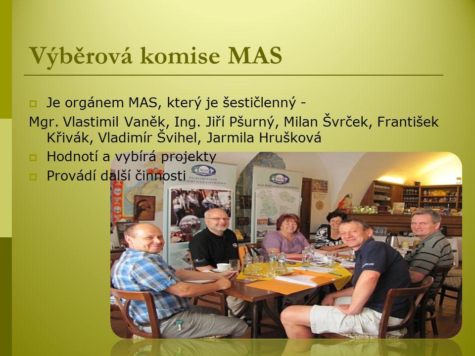  Je orgánem MAS, který je šestičlenný - Mgr.Vlastimil Vaněk, Ing.