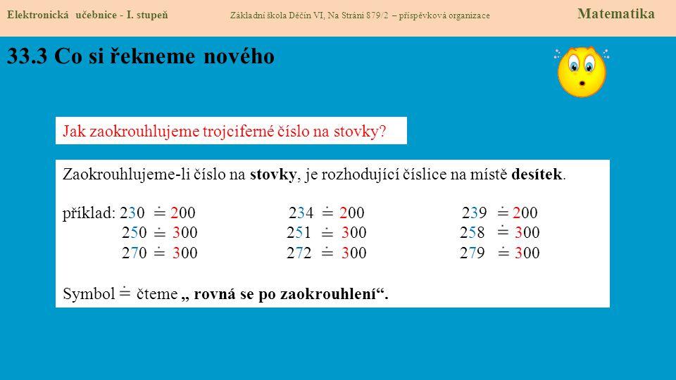 33.4 Co si řekneme nového.Elektronická učebnice - I.