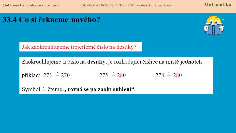 33.5 Procvičení Elektronická učebnice - I.