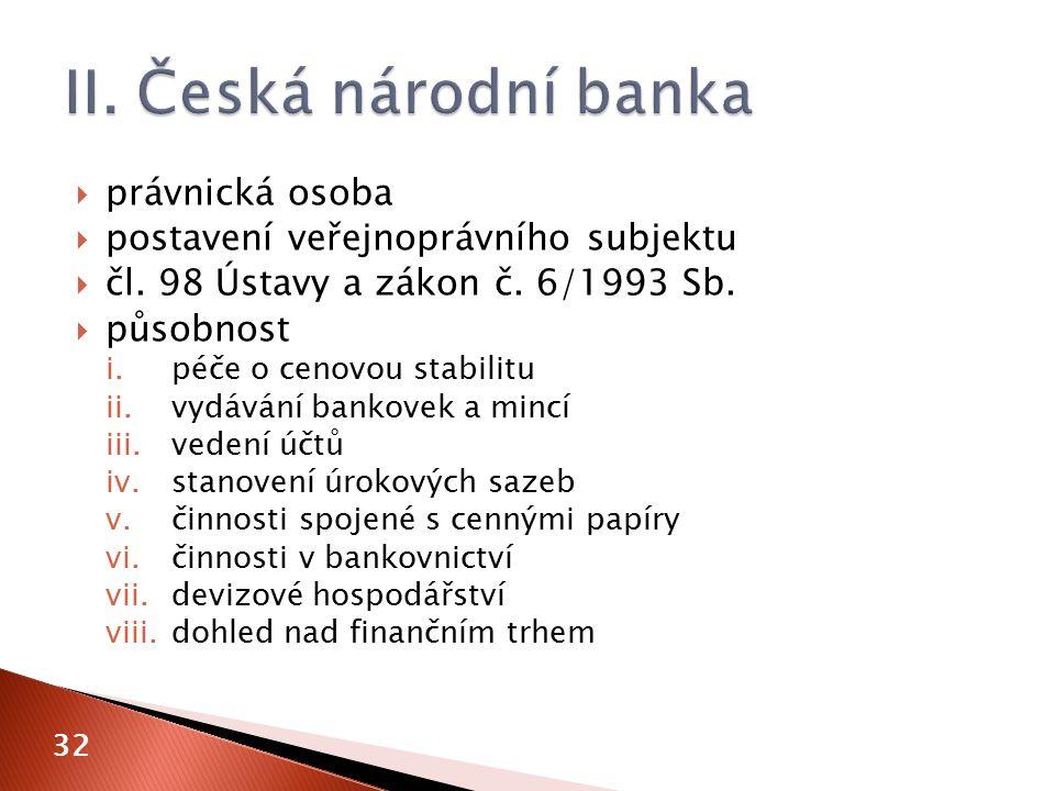  právnická osoba  postavení veřejnoprávního subjektu  čl.