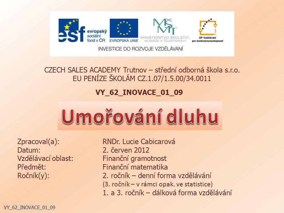 CZECH SALES ACADEMY Trutnov – střední odborná škola s.r.o.