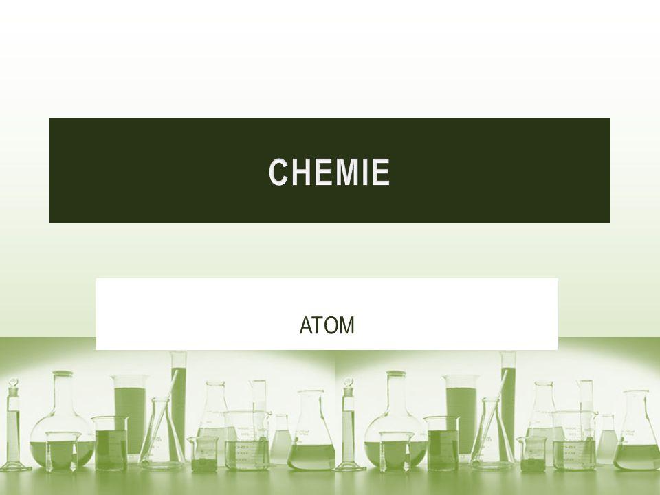 Atom je základní stavební částice látky.