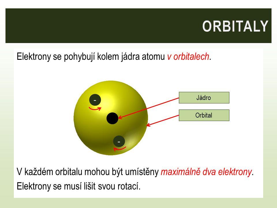 Orbitaly se liší velikostí. - - - -