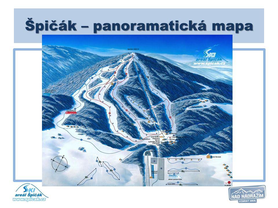 Špičák – panoramatická mapa