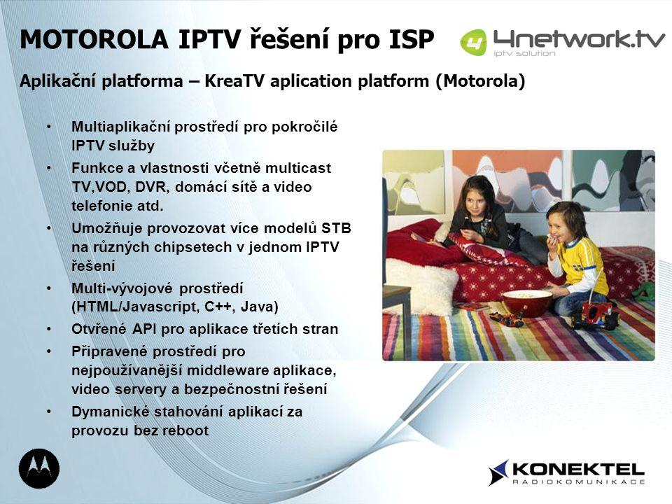 Page 11 Multiaplikační prostředí pro pokročilé IPTV služby Funkce a vlastnosti včetně multicast TV,VOD, DVR, domácí sítě a video telefonie atd. Umožňu