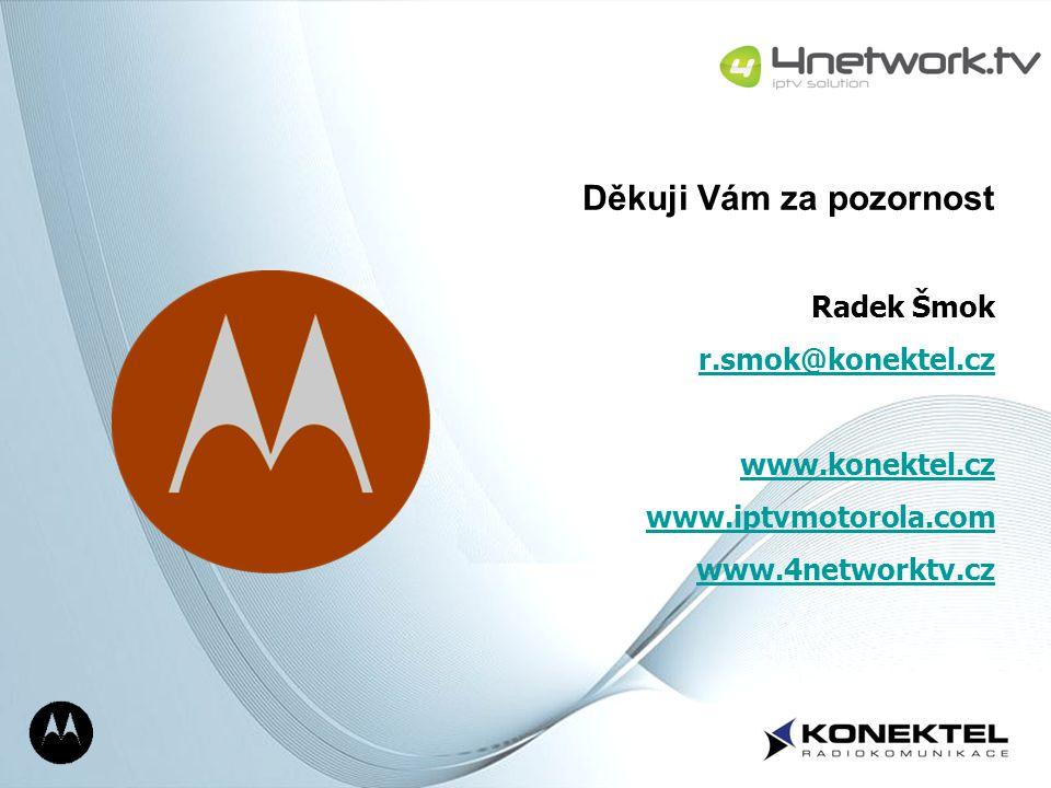 Page 22 Děkuji Vám za pozornost Radek Šmok r.smok@konektel.cz www.konektel.cz www.iptvmotorola.com www.4networktv.cz