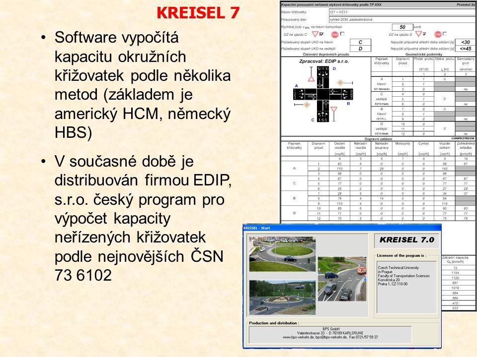 Software vypočítá kapacitu okružních křižovatek podle několika metod (základem je americký HCM, německý HBS) V současné době je distribuován firmou ED