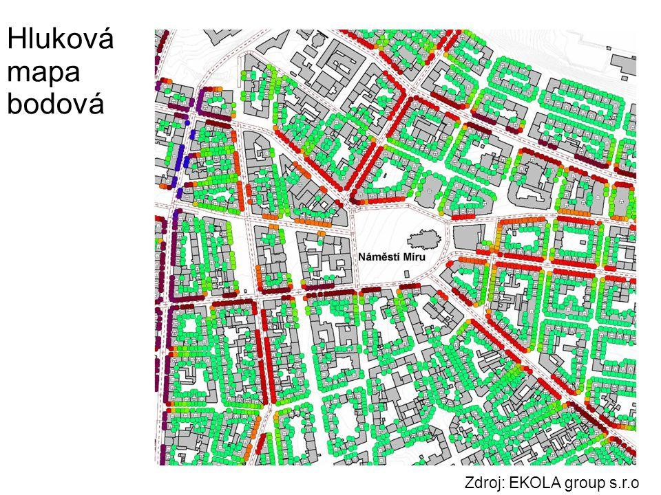 Zdroj: EKOLA group s.r.o Hluková mapa bodová