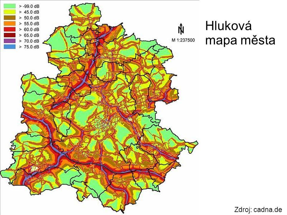 Zdroj: cadna.de Hluková mapa města